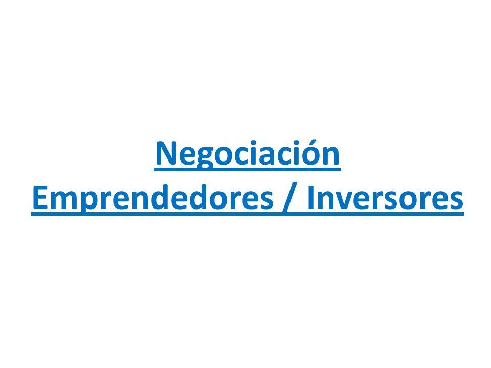 Negociación Emprendedores / Inversores