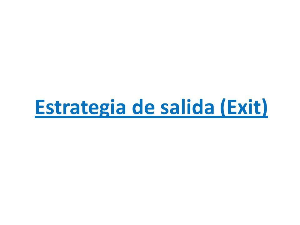 Estrategia de salida (Exit)