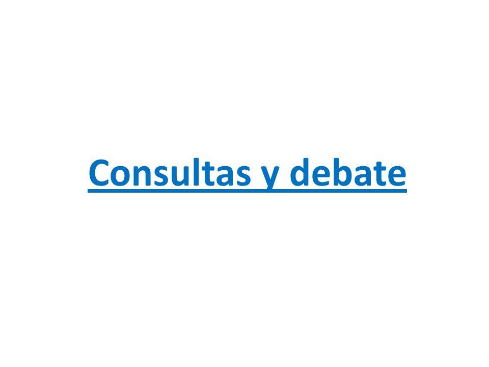 Consultas y debate