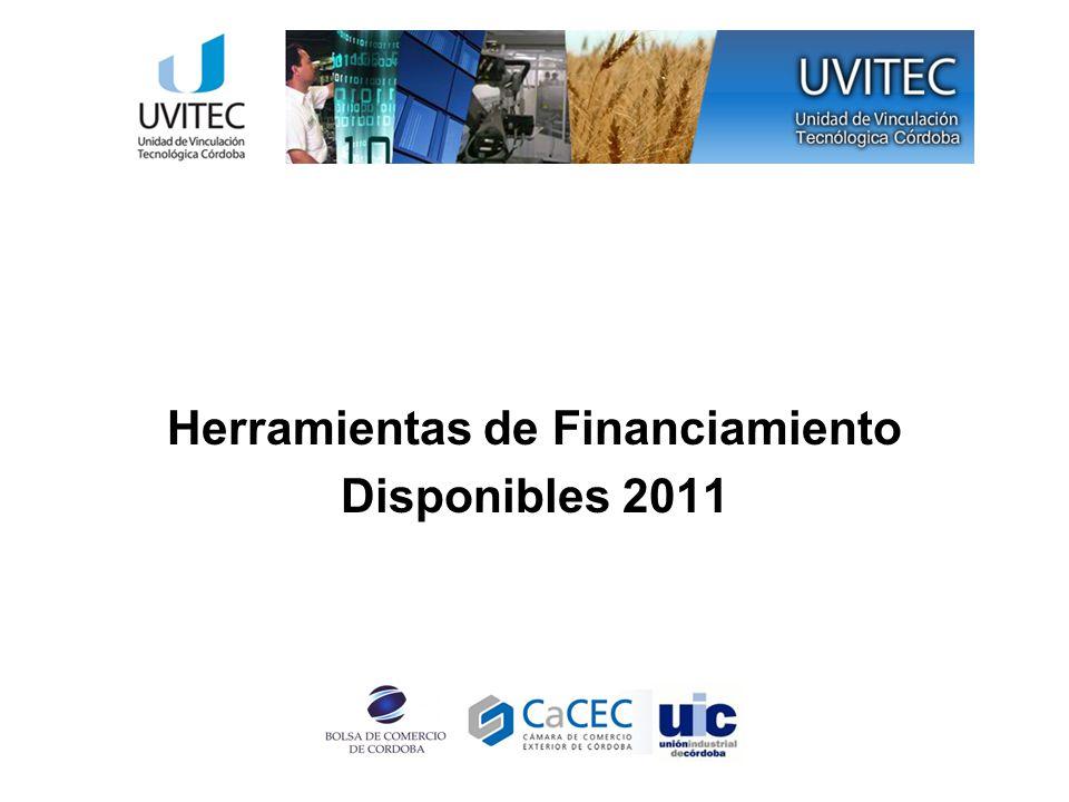 Herramientas de Financiamiento Disponibles 2011