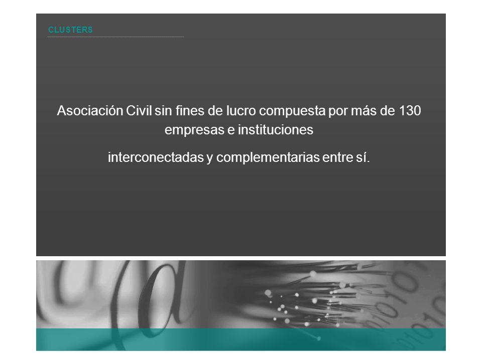 Asociación Civil sin fines de lucro compuesta por más de 130 empresas e instituciones interconectadas y complementarias entre sí. CLUSTERS
