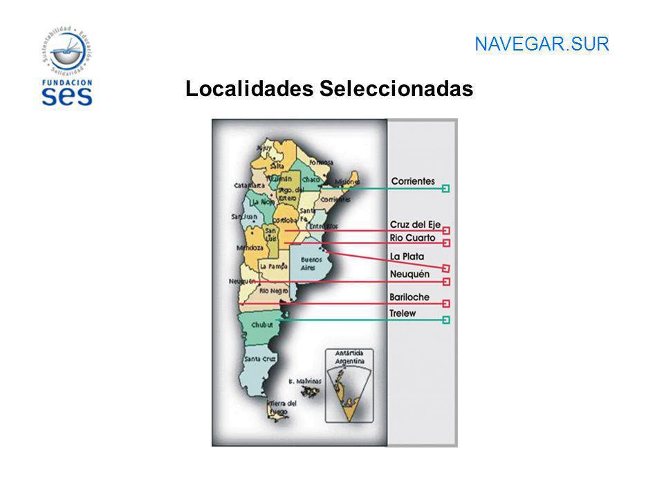 NAVEGAR.SUR Localidades Seleccionadas