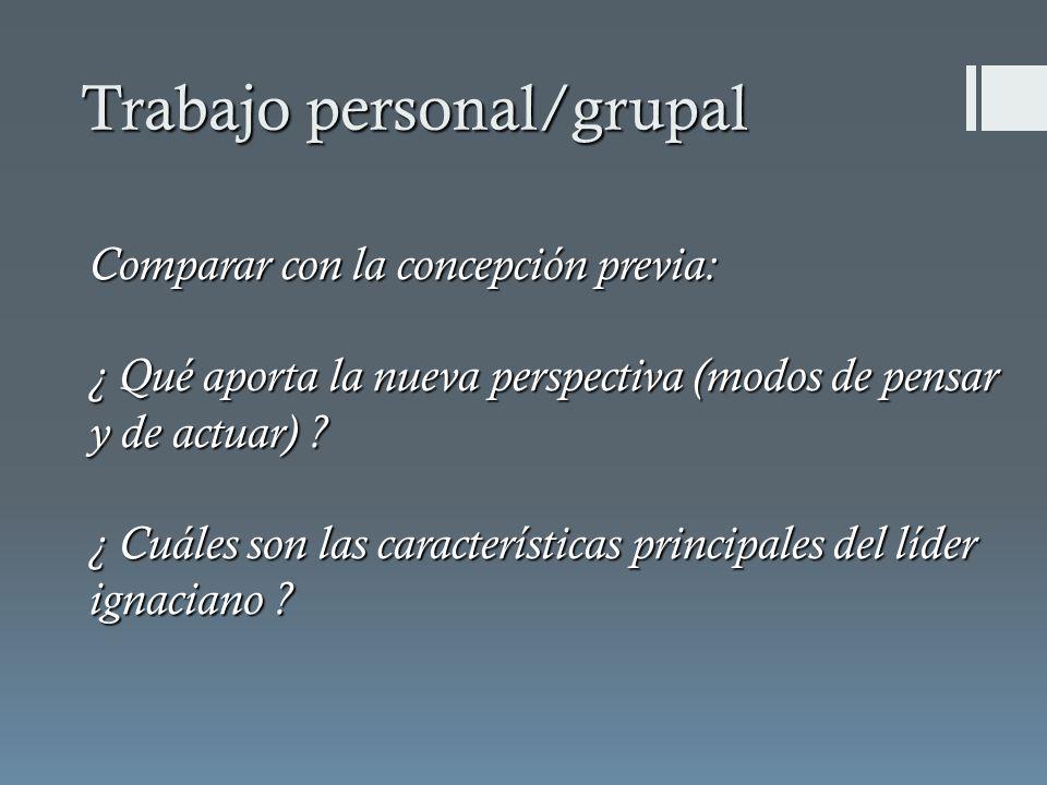 Comparar con la concepción previa: ¿ Qué aporta la nueva perspectiva (modos de pensar y de actuar) .