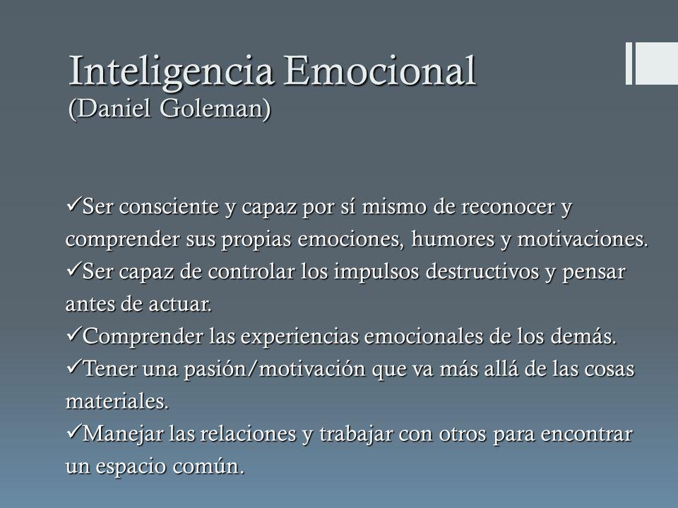 Ser consciente y capaz por sí mismo de reconocer y comprender sus propias emociones, humores y motivaciones.