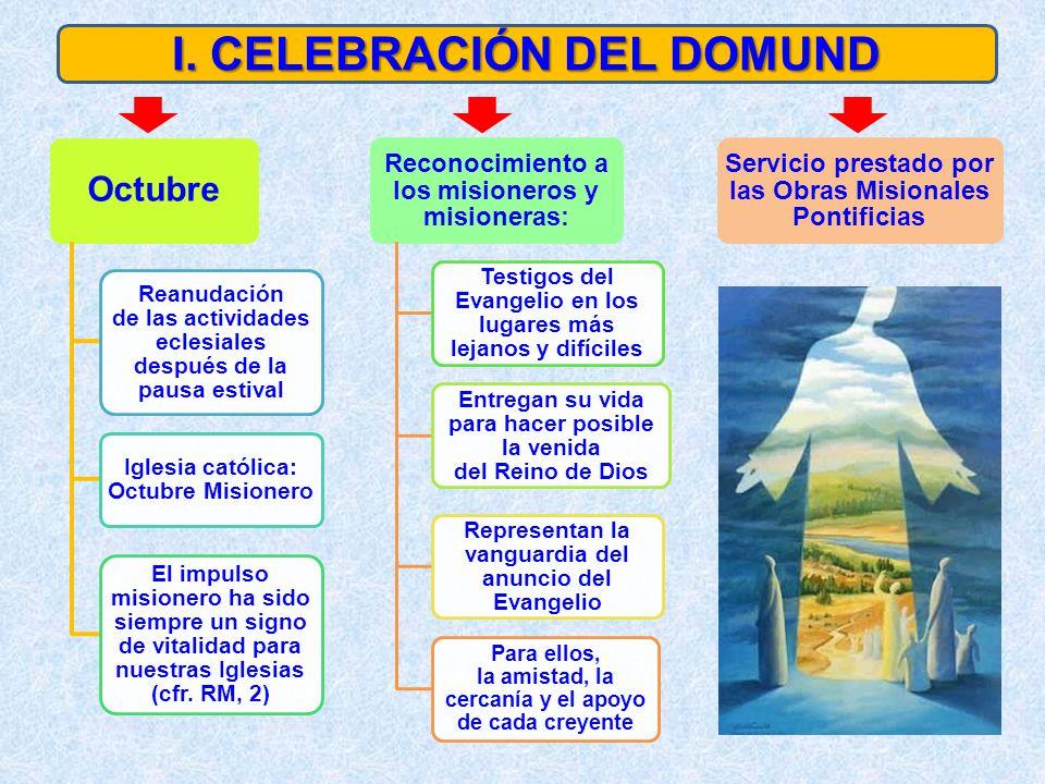 Octubre Reanudación de las actividades eclesiales después de la pausa estival Iglesia católica: Octubre Misionero El impulso misionero ha sido siempre