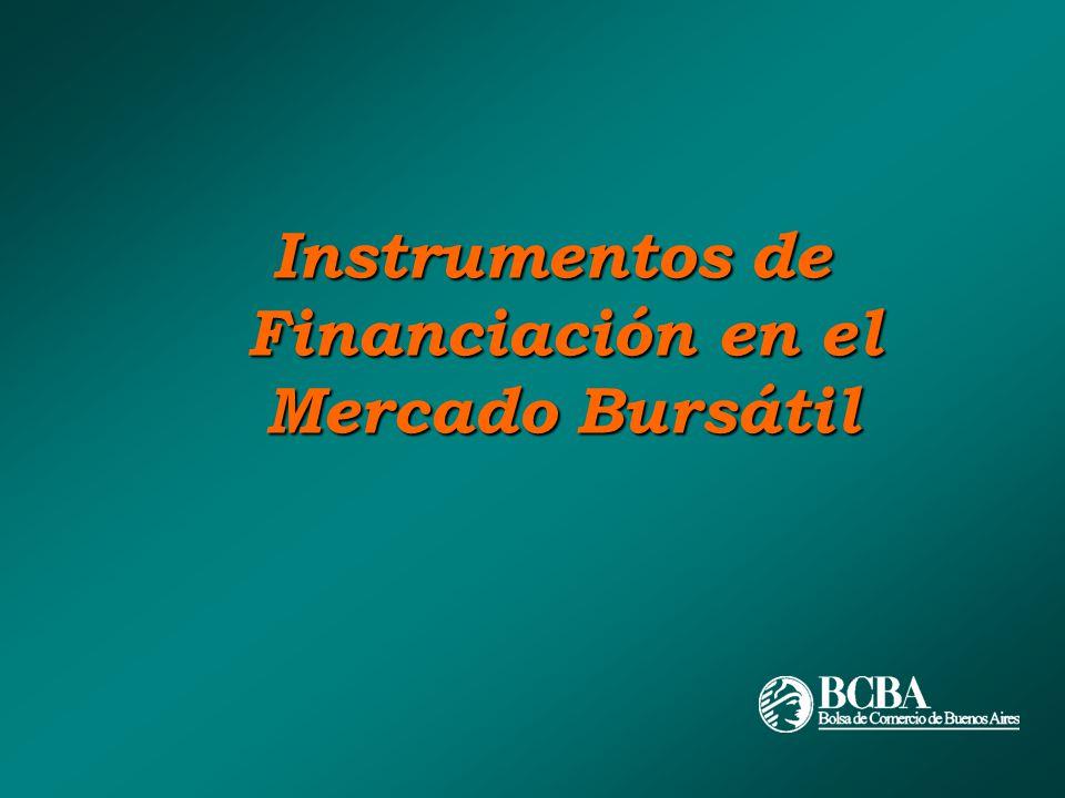 Instrumentos de Financiación en el Mercado Bursátil
