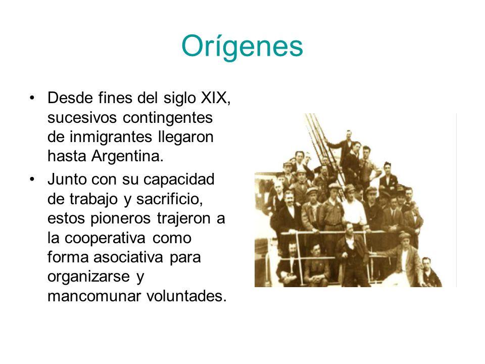 Orígenes Desde fines del siglo XIX, sucesivos contingentes de inmigrantes llegaron hasta Argentina. Junto con su capacidad de trabajo y sacrificio, es
