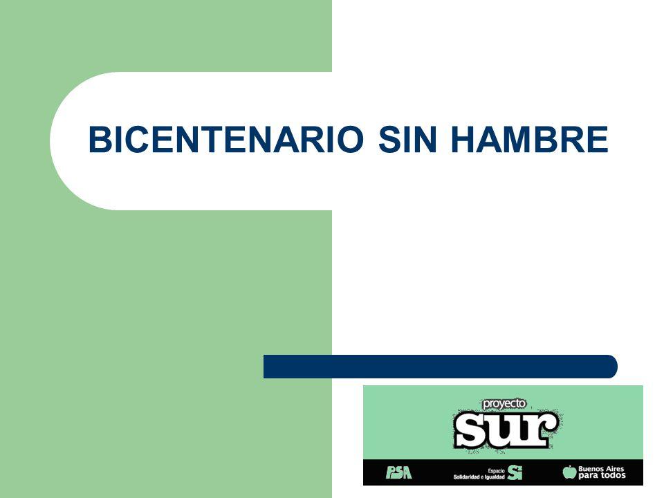 BICENTENARIO SIN HAMBRE