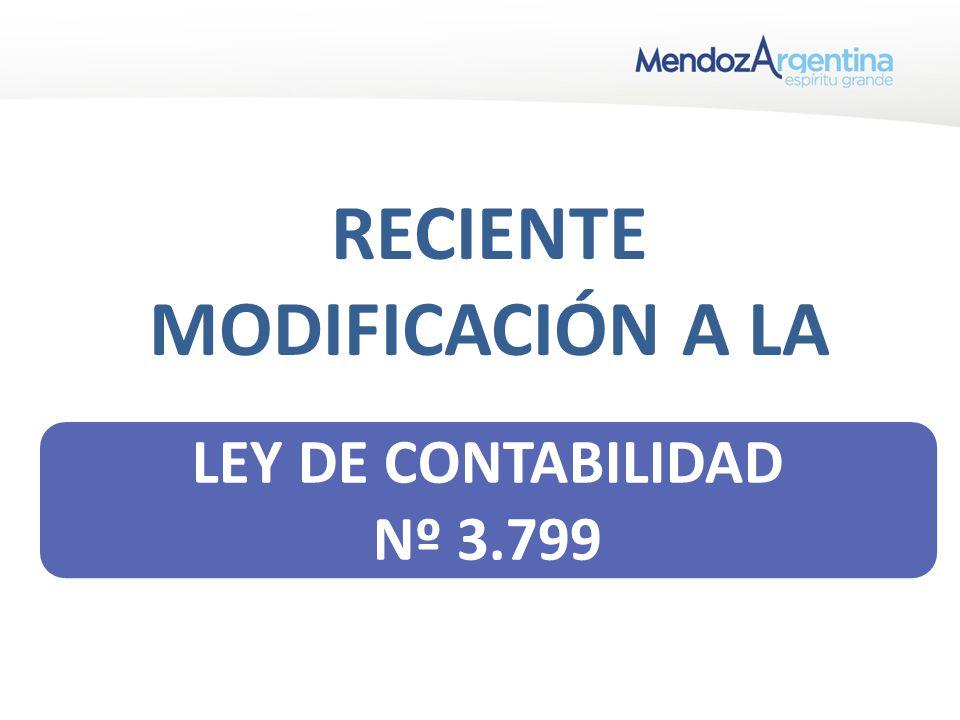 RECIENTE MODIFICACIÓN A LA LEY DE CONTABILIDAD Nº 3.799