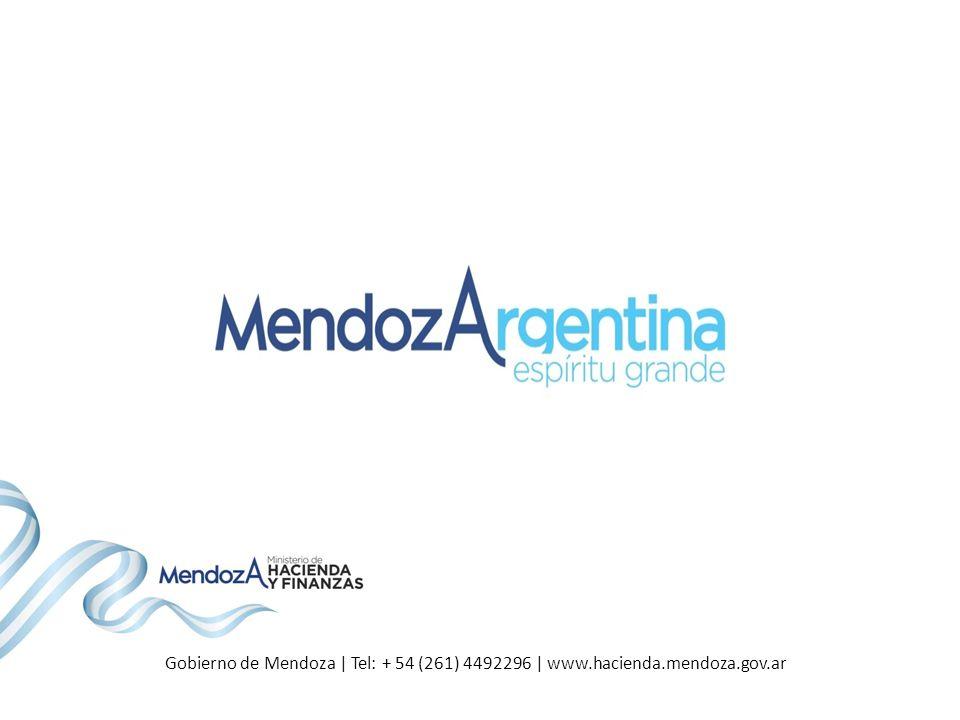 Gobierno de Mendoza | Tel: + 54 (261) 4492296 | www.hacienda.mendoza.gov.ar