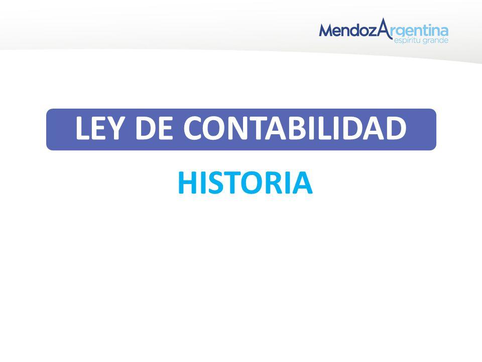 HISTORIA LEY DE CONTABILIDAD