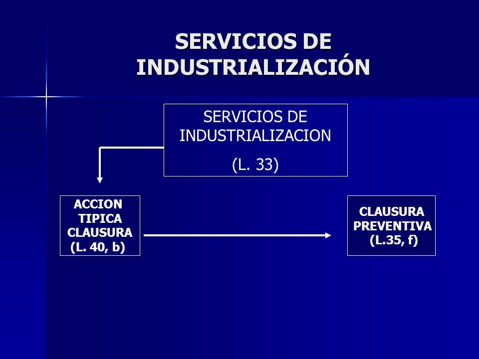 SERVICIOS DE INDUSTRIALIZACIÓN SERVICIOS DE INDUSTRIALIZACION (L.
