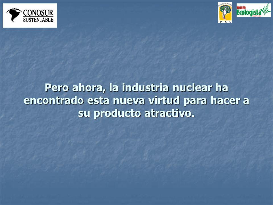 La imagen de la central nuclear, sin humo, resulta visualmente convincente.