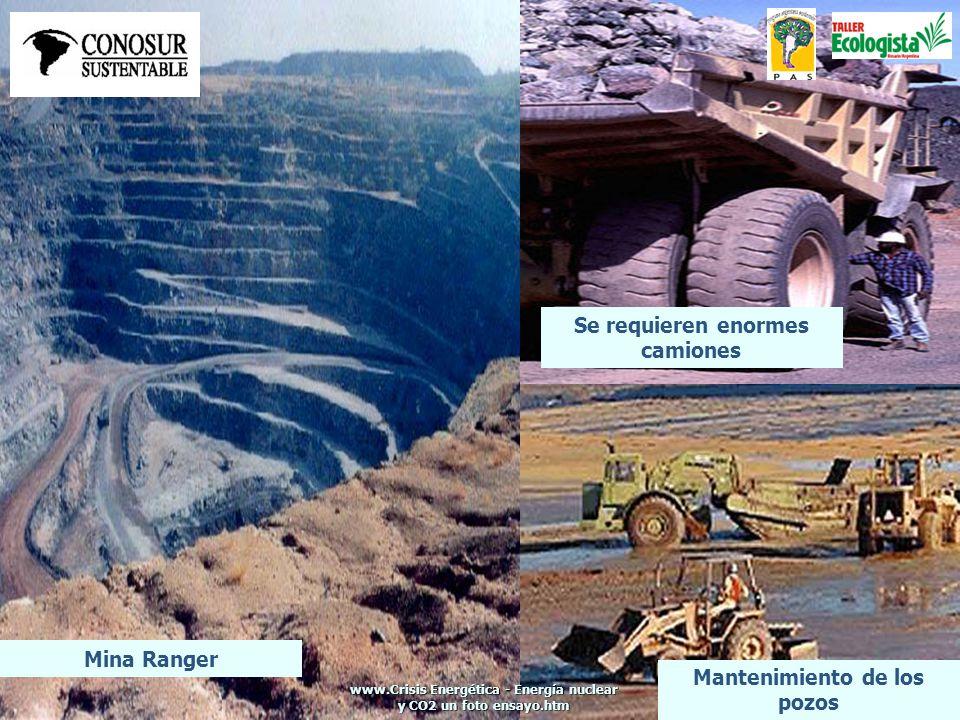Mina Ranger Se requieren enormes camiones Mantenimiento de los pozos www.Crisis Energética - Energía nuclear y CO2 un foto ensayo.htm