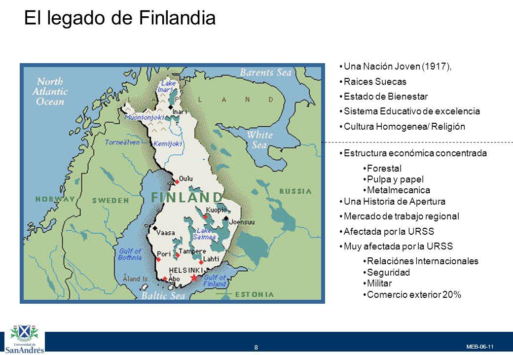 MEB-06-11 8 El legado de Finlandia Una Nación Joven (1917), Raices Suecas Estado de Bienestar Sistema Educativo de excelencia Cultura Homogenea/ Relig