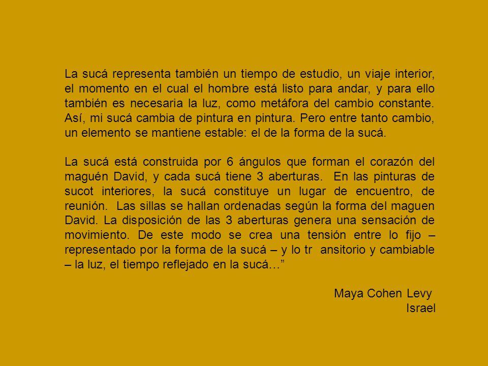 Sucá, Maya Cohen Levy, 1992, tinta y acuarela sobre papel