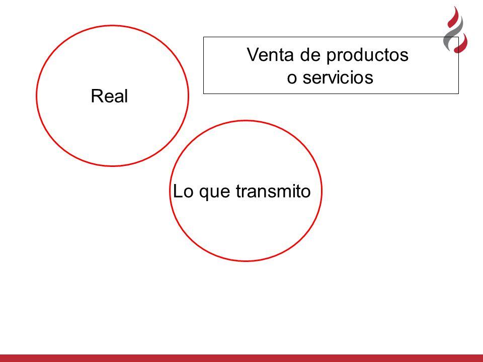 Real Lo que transmito Venta de productos o servicios