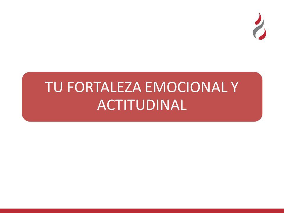 TU FORTALEZA EMOCIONAL Y ACTITUDINAL