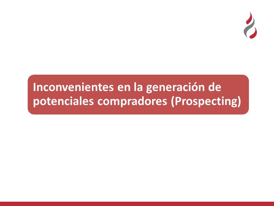 Inconvenientes en la generación de potenciales compradores (Prospecting)