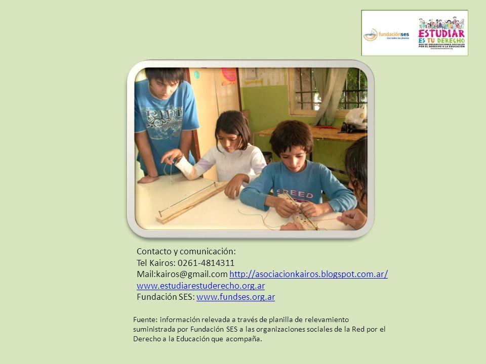Contacto y comunicación: Tel Kairos: 0261-4814311 Mail:kairos@gmail.com http://asociacionkairos.blogspot.com.ar/http://asociacionkairos.blogspot.com.a