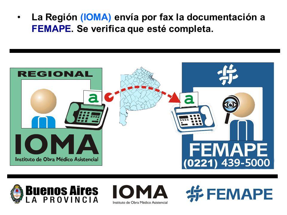 3. FEMAPE entrega la documentación del afiliado en la Auditoría de Oxígeno (DPE) de IOMA.