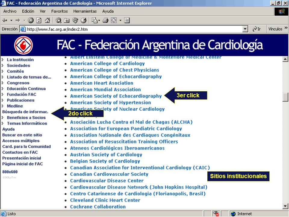 2do click Sitios institucionales 3er click