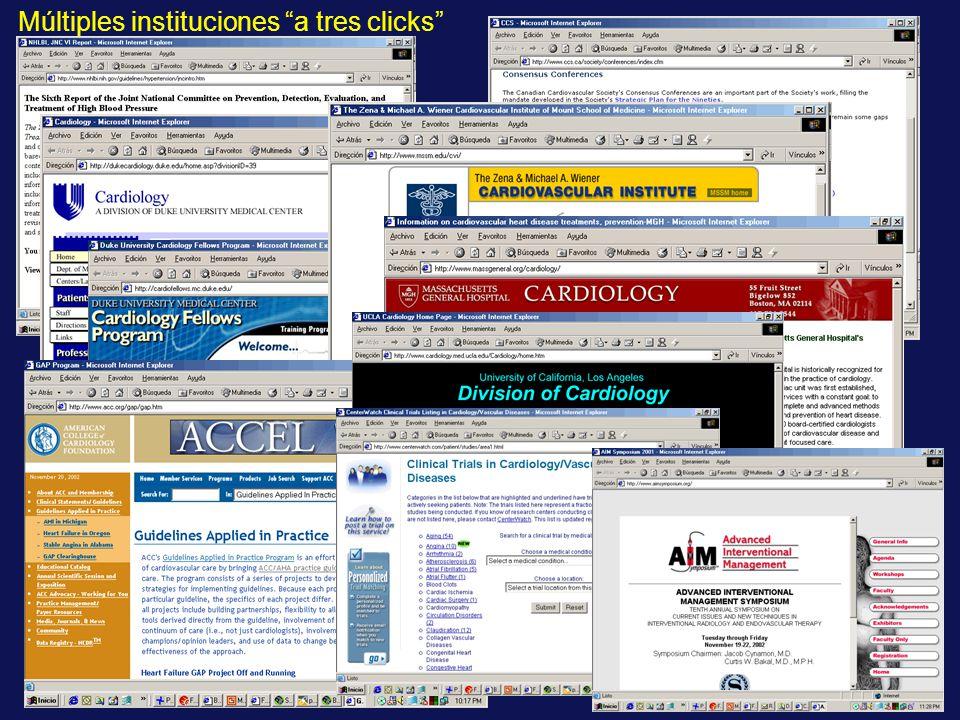 Múltiples instituciones a tres clicks