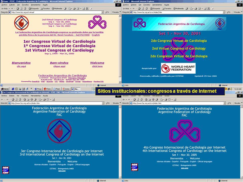 Sitios institucionales: congresos a través de Internet