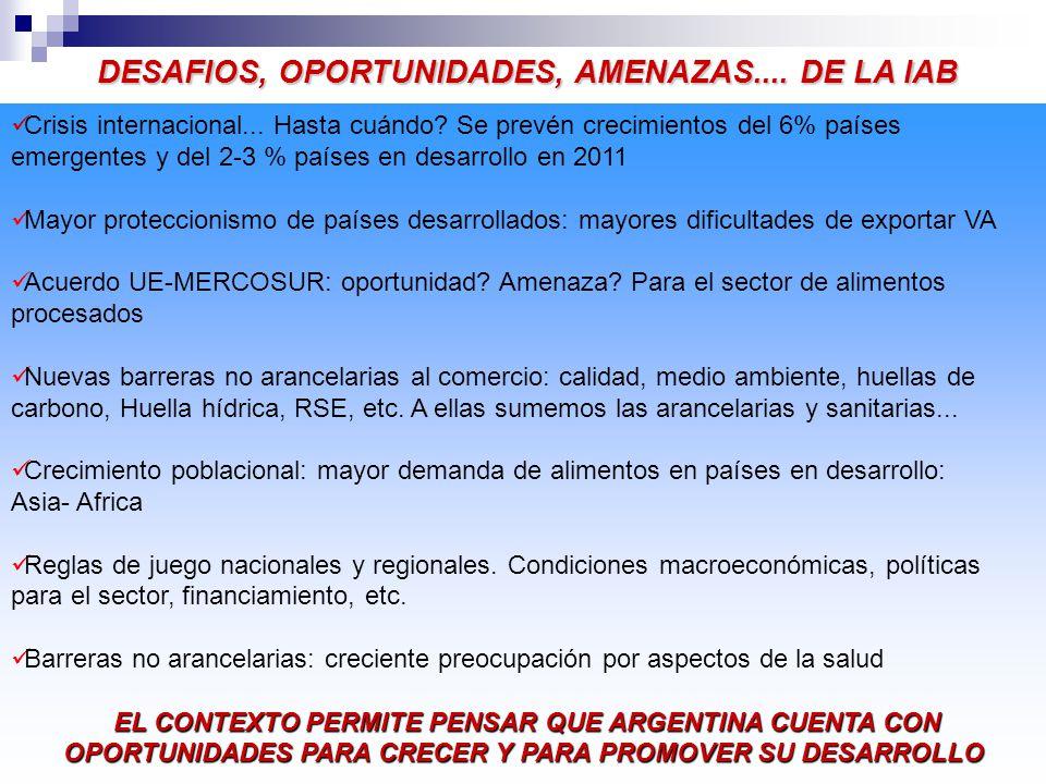DESAFIOS, OPORTUNIDADES, AMENAZAS....DE LA IAB Crisis internacional...