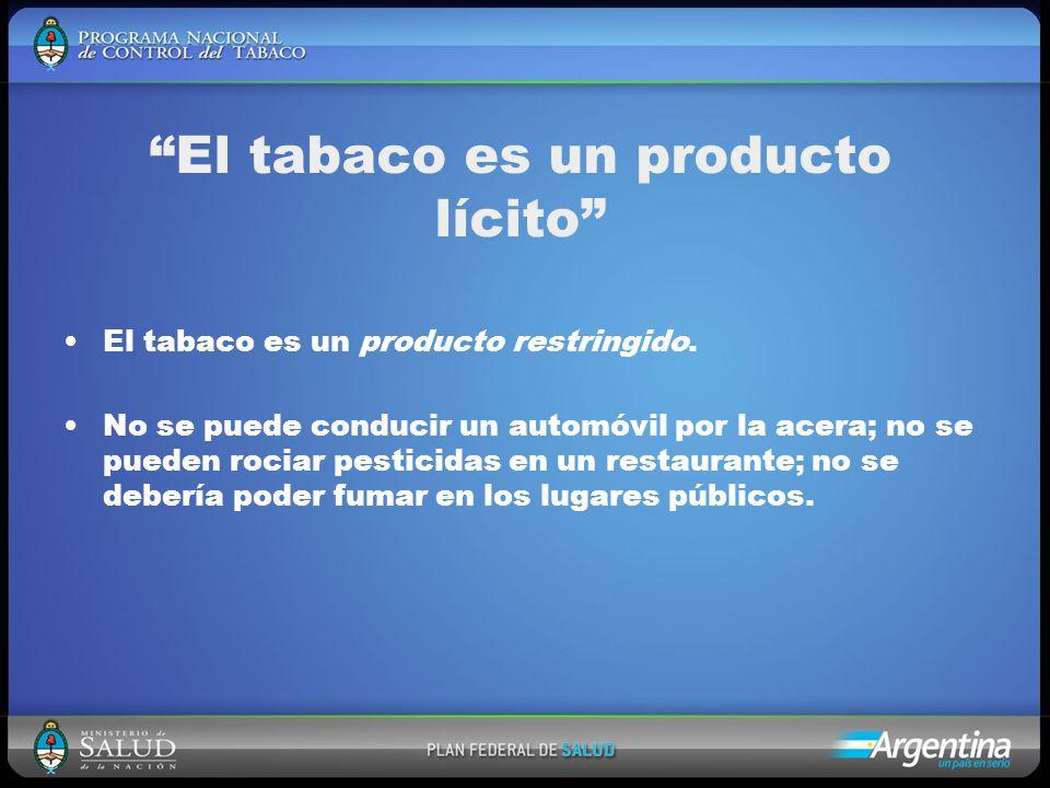 El tabaco es un producto restringido.