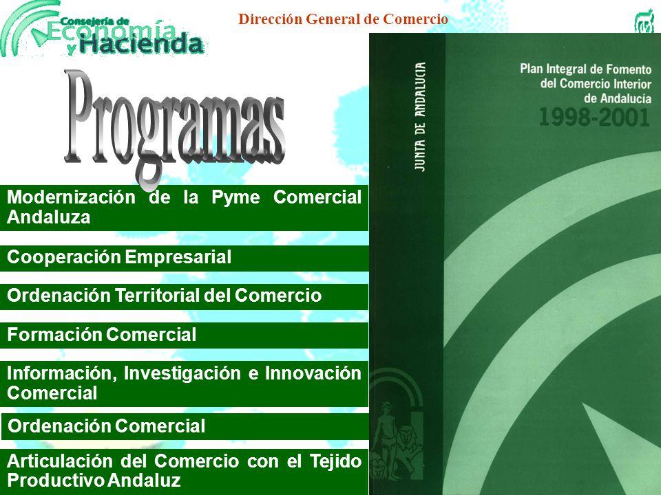 Dirección General de Comercio Medidas de financiación preferencial Formación profesional Creación de infraestructuras comerciales Coordinación de las
