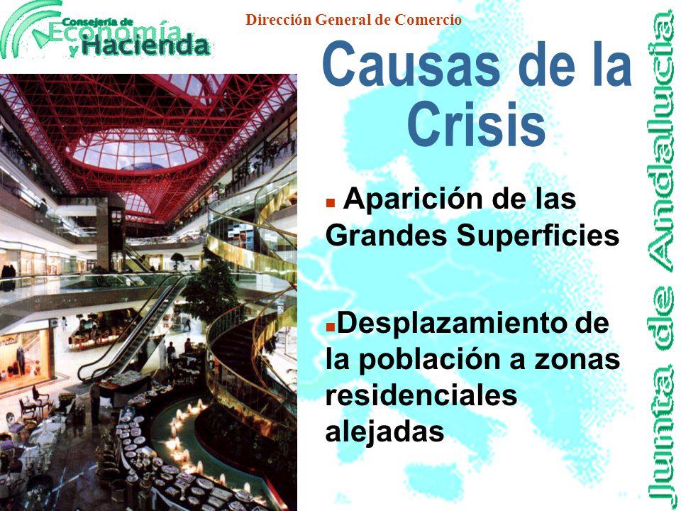 Dirección General de Comercio El Comercio Tiene un papel regenenador en los cascos históricos L a crisis de los C entros Históricos