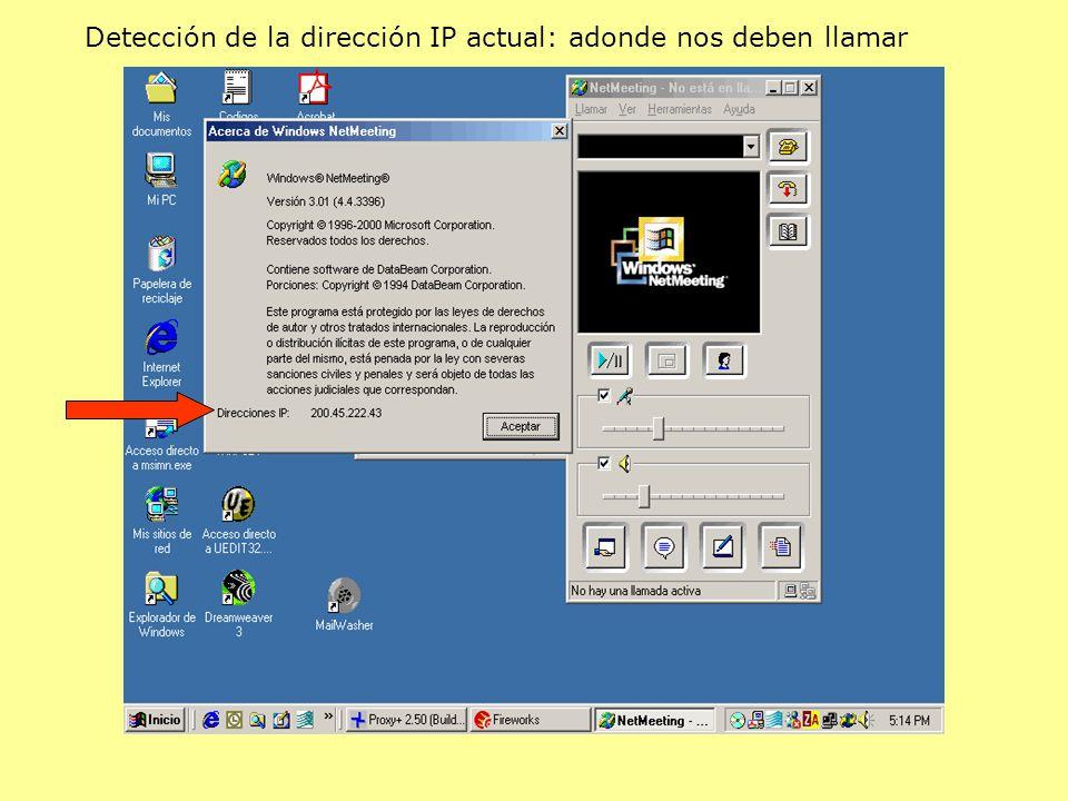 Detección de la dirección IP actual: adonde nos deben llamar