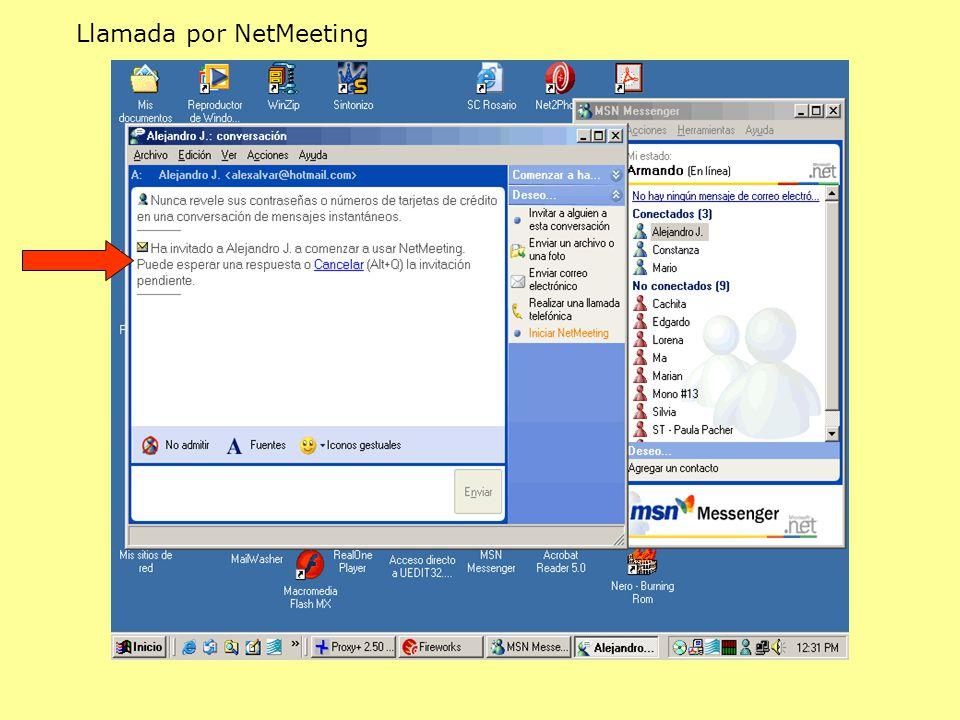 Llamada por NetMeeting