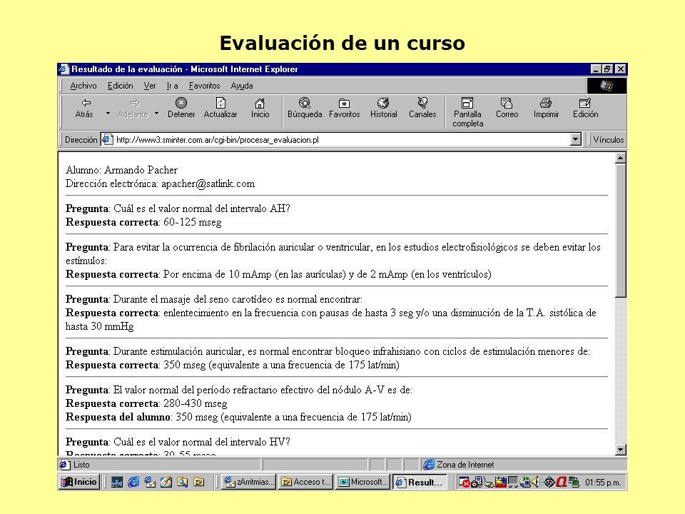 Evaluación de un curso
