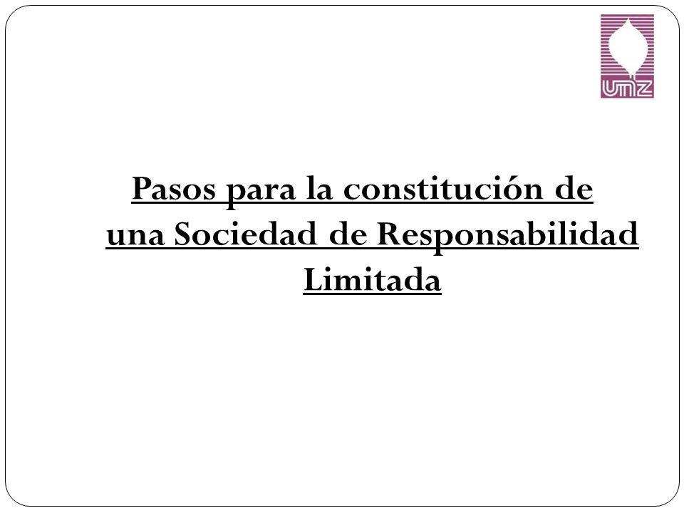 Pasos para la constitución de una Sociedad de Responsabilidad Limitada