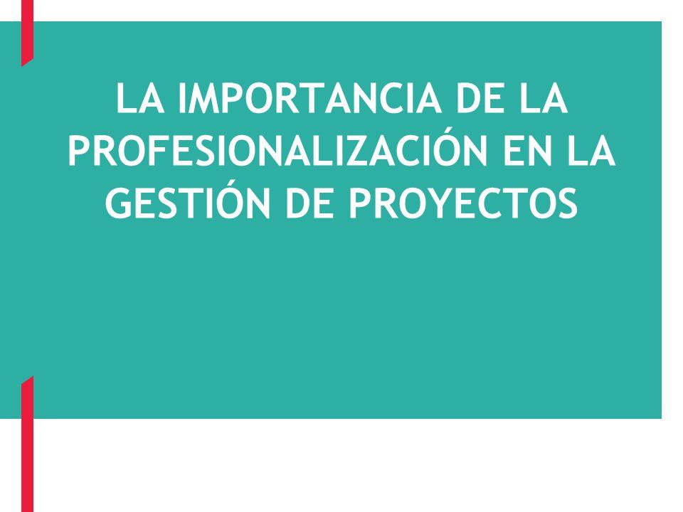 Page 1 LA IMPORTANCIA DE LA PROFESIONALIZACIÓN EN LA GESTIÓN DE PROYECTOS