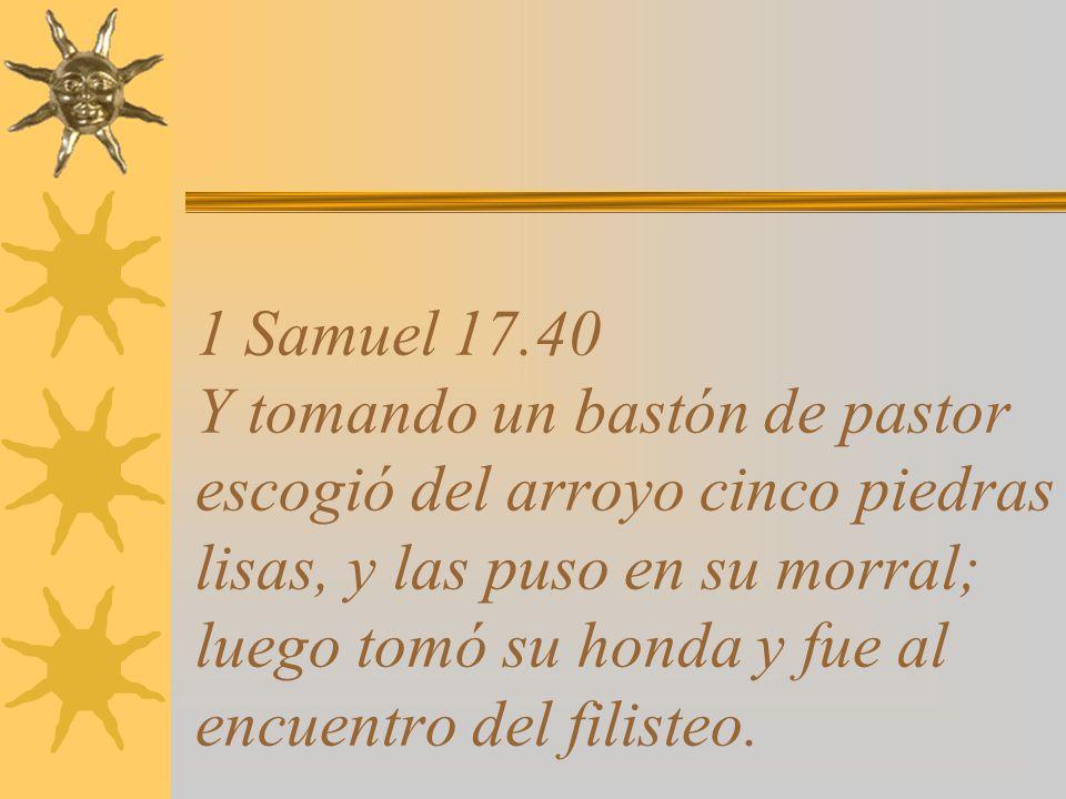 1 Samuel 17.39 No puedo moverme con estas cosas, porque nunca las he usado.