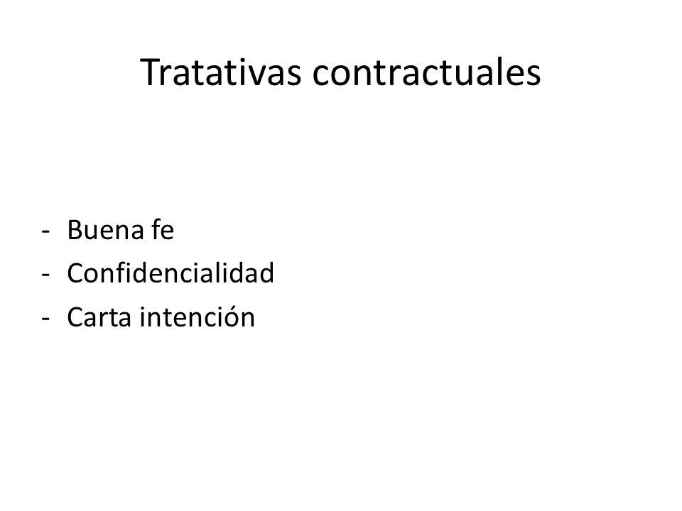Tratativas contractuales -Buena fe -Confidencialidad -Carta intención