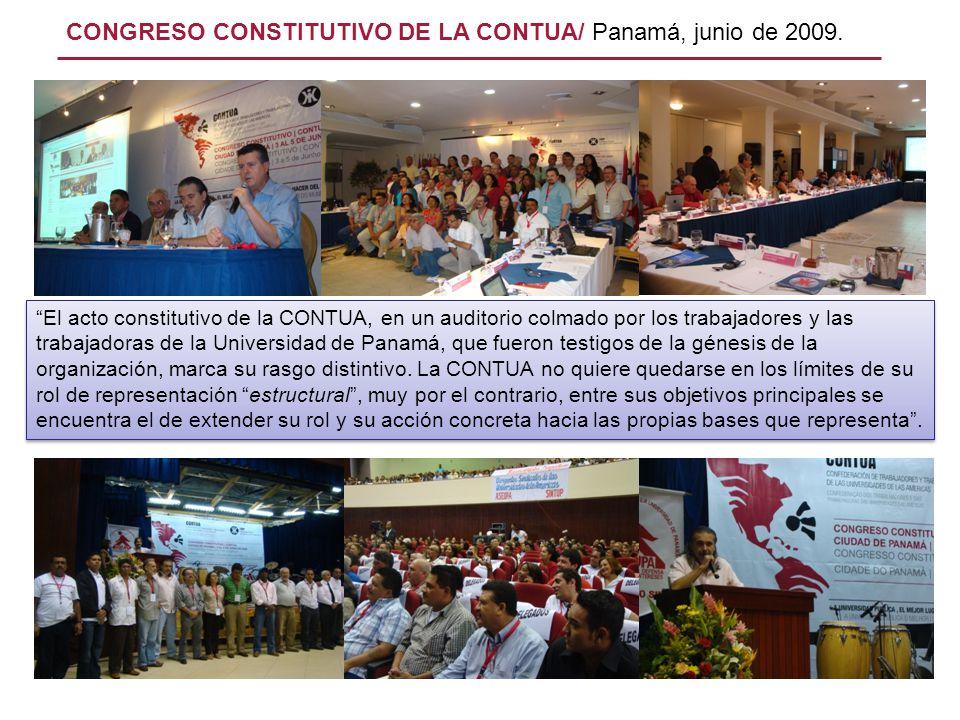 El acto constitutivo de la CONTUA, en un auditorio colmado por los trabajadores y las trabajadoras de la Universidad de Panamá, que fueron testigos de