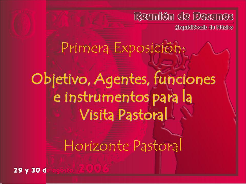 VISIÓN LA VISITA PASTORAL ES TIEMPO DE GRACIA La Iglesia es Sacramento de Jesucristo en el mundo para evangelizar y colaborar a que surjan los signos del Reino de Dios