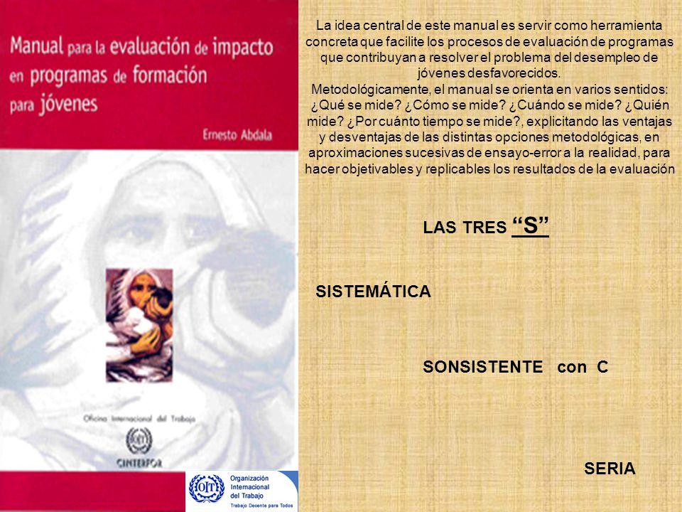 La idea central de este manual es servir como herramienta concreta que facilite los procesos de evaluación de programas que contribuyan a resolver el