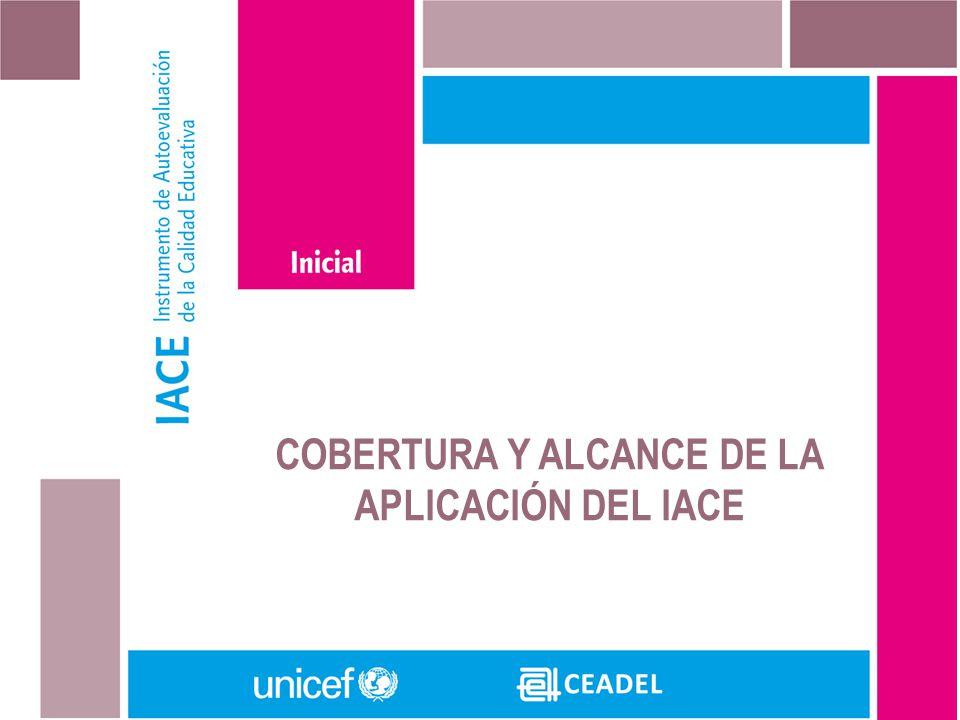 COBERTURA Y ALCANCE DE LA APLICACIÓN DEL IACE