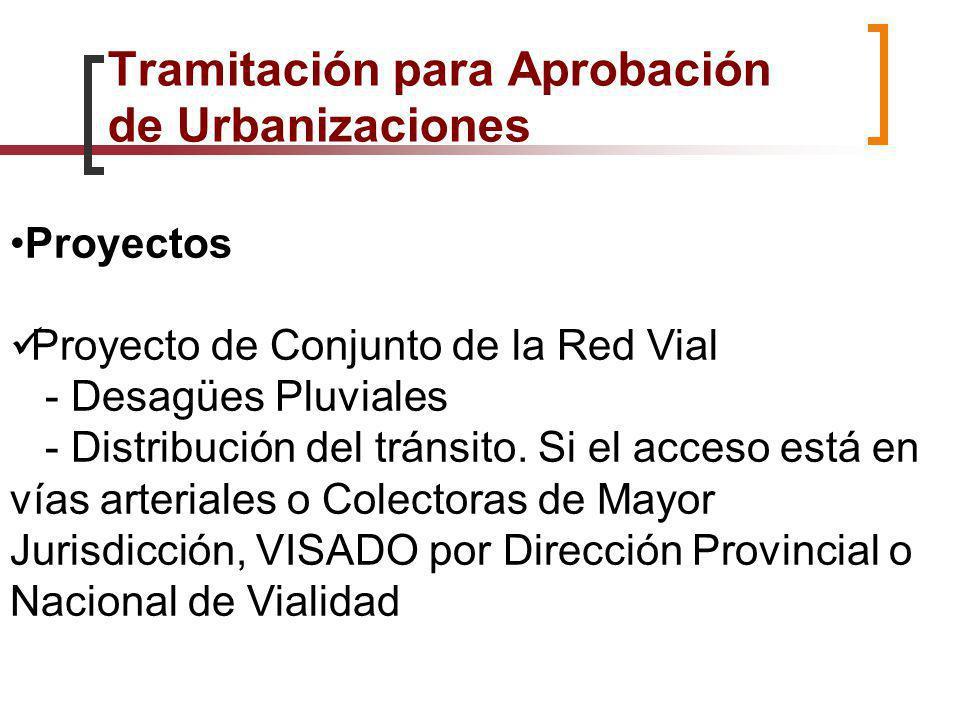 Proyectos Proyecto de Conjunto de la Red Vial - Desagües Pluviales - Distribución del tránsito. Si el acceso está en vías arteriales o Colectoras de M