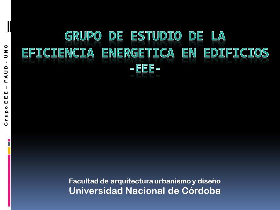 Grupo EEE – FAUD - UNC