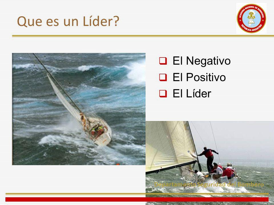 El Negativo El Positivo El Líder Departamento Seguridad del Bombero Que es un Líder?