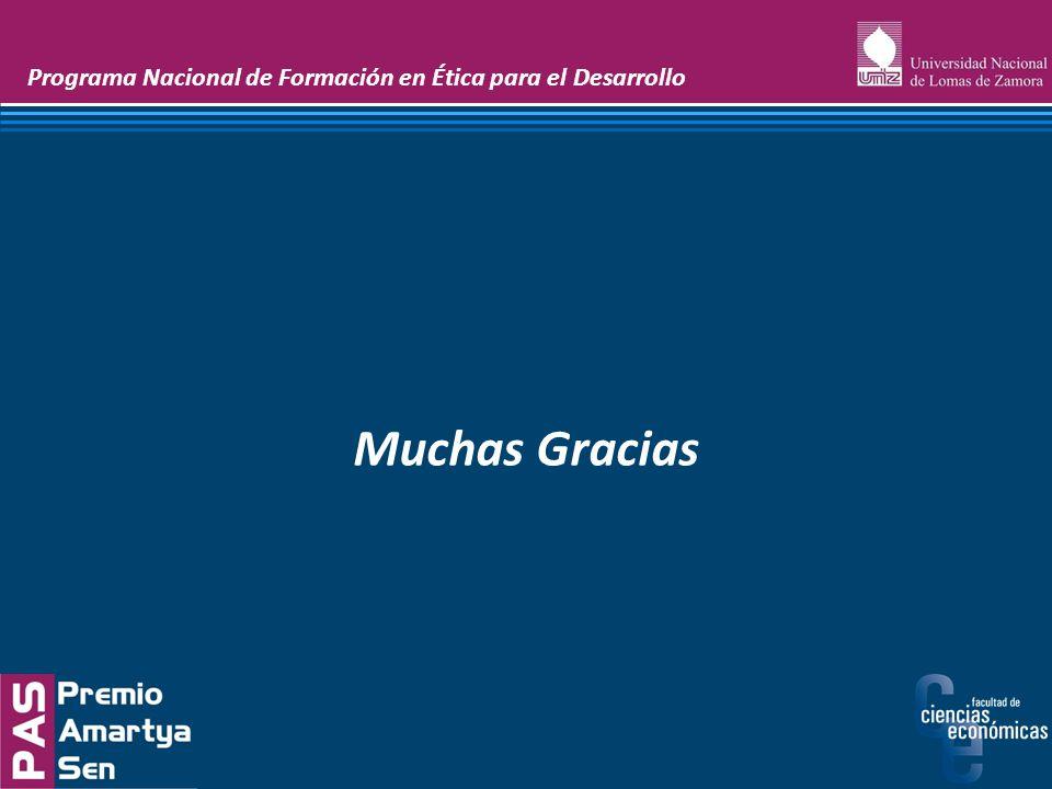 Muchas Gracias Programa Nacional de Formación en Ética para el Desarrollo