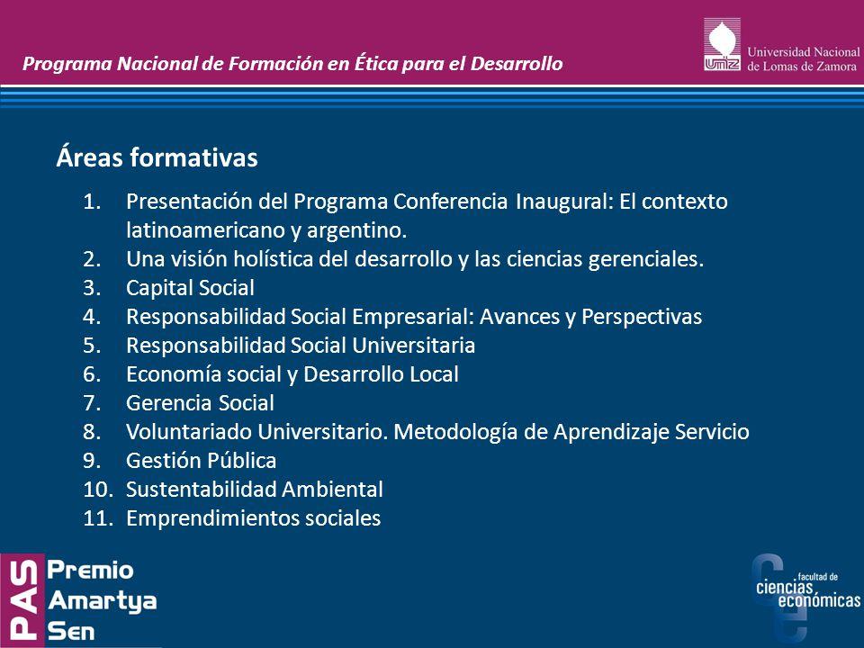 Programa Nacional de Formación en Ética para el Desarrollo Etapa 1: Docencia Etapa 2: Elaboración de proyectos sociales Etapa 3: Inserción en docencia y ejecución de proyectos comunitarios Etapas de Implementación del programa