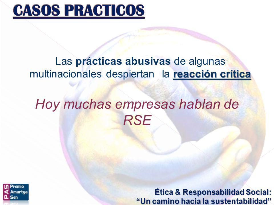 Ética & Responsabilidad Social: Un camino hacia la sustentabilidad reacción crítica Las prácticas abusivas de algunas multinacionales despiertan la re