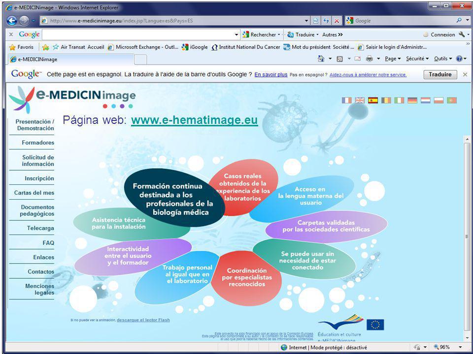 Página web: www.e-hematimage.euwww.e-hematimage.eu